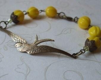 Free Bird Bracelet, Flying Swallow