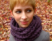 Purple Coiled Cowl
