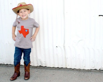 The Heart of Texas - on an American Apparel Unisex Organic Cotton Tee