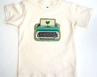 The TYPEWRITER Tee - in Natural on an American Apparel  Unisex Organic Cotton Tee