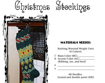 Fair Isle Christmas Stocking Pattern