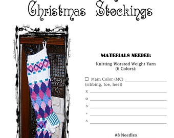 Harlequin Christmas Stocking Pattern