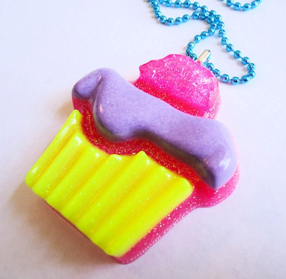 ON SALE Sweet Little Cupcake (Large Resin Pendant Necklace)