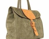 Leather bag leather handbag purse women bag Green leather bag leather purse every day bag