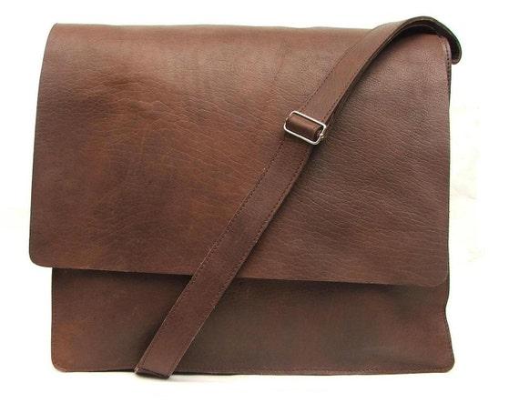 Messenger bag Mens Brown Leather crossbody bag laptop bag Leather bag hand made