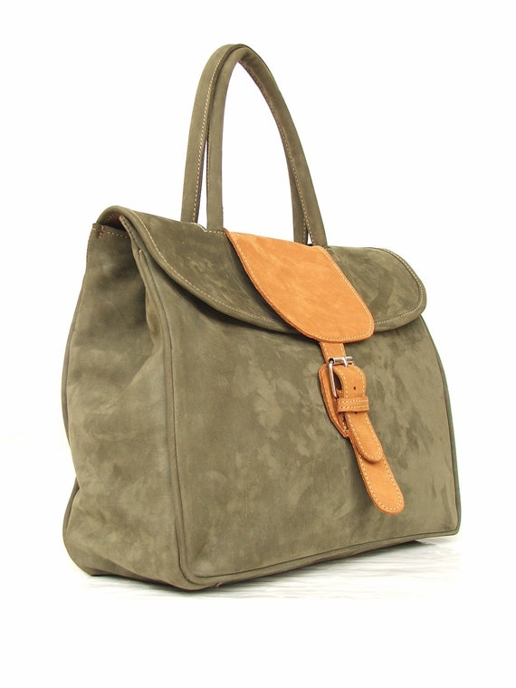Leather bag leather handbag purse women bag Green leather bag leather purse every day bag