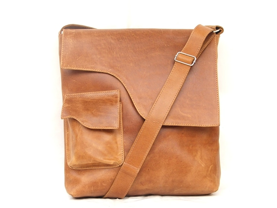 Satchel leather Messenger bag Mens Women Unisex Leather