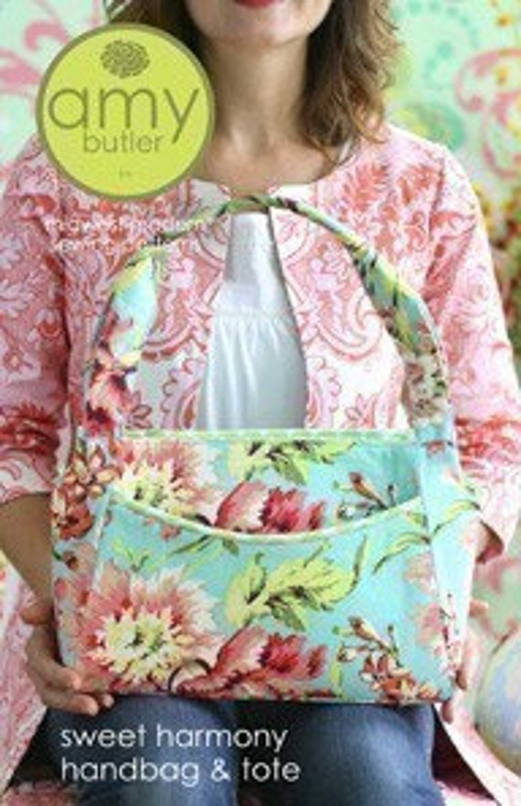 Amy Butler Sewing Pattern --Sweet Harmony Handbag and Tote, Free Shipping Offer