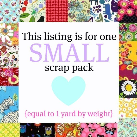 Fabric Scrap Pack -- SMALL (1 yard by weight)