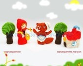 Red Riding Hood Fairy Tale Finger Puppets  Amigurumi PDF Crochet Pattern