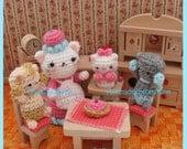 Three Little Kittens Amigurumi PDF Crochet Pattern by HandmadeKitty