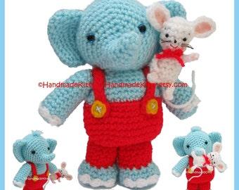 Little Mouse and Elephant Amigurumi Crochet Pattern by HandmadeKitty