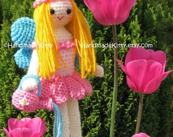 Garden Fairy Amigurumi PDF Crochet Pattern by HandmadeKitty