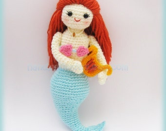 Mermaid Jenny under the sea Amigurumi PDF Crochet Pattern