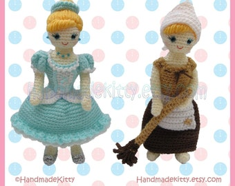 Dress up Cinderella Amigurumi PDF Crochet Pattern