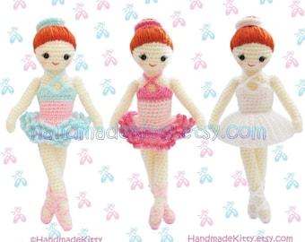 Dress up Ballerina Girl Amigurumi PDF Crochet Pattern