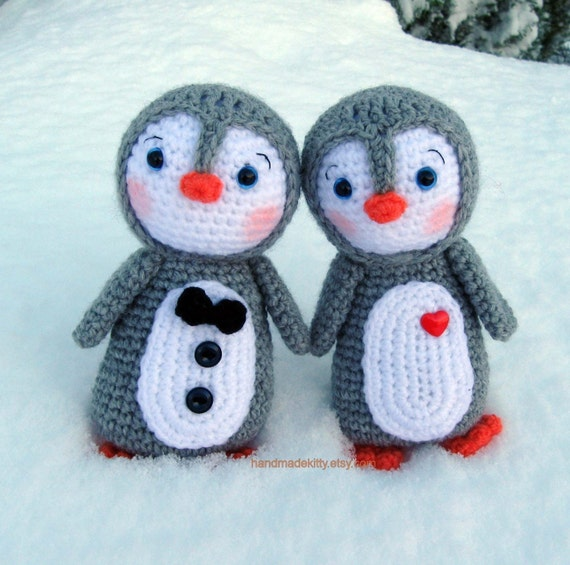 Penguin Couple Amigurumi PDF Crochet Pattern