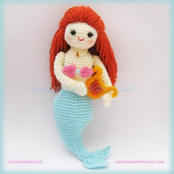 Mermaid Jenny under the sea Amigurumi PDF Crochet Pattern