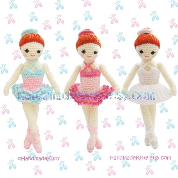 Dress up Ballerina Girl Amigurumi PDF Crochet Pattern
