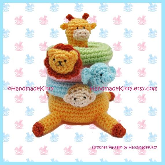 Kirin Giraffe Jungle Stacker Amigurumi PDF Crochet Pattern by HandmadeKitty