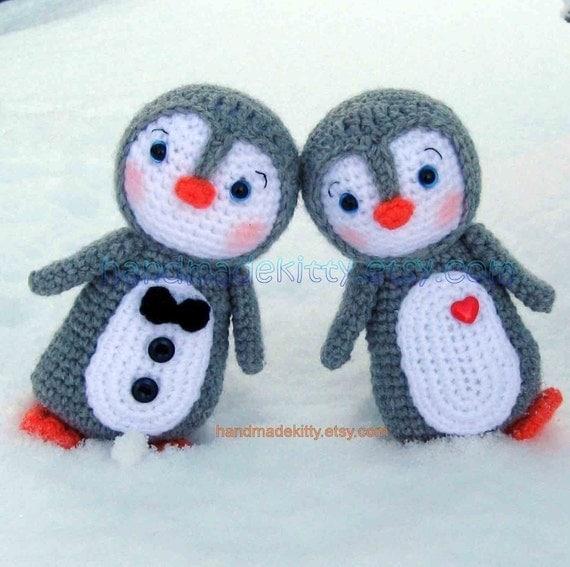 Amigurumi Penguin Crochet : Penguin couple amigurumi pdf crochet pattern