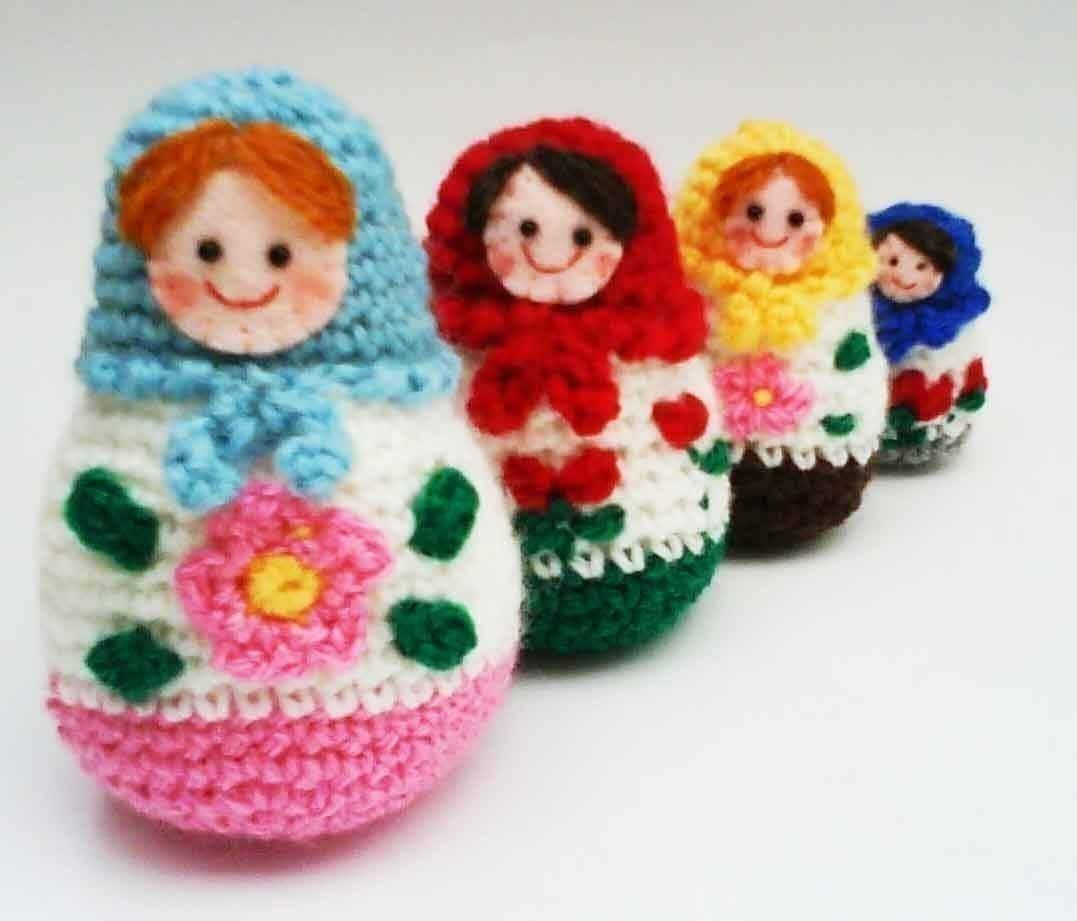Amigurumi Nesting Dolls : Russian Matryoshka amigurumi babushka Dolls PDF Crochet