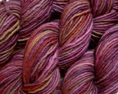 Chunky Weight Wool/Alpaca Yarn, Hand Dyed - Burgundy Multi