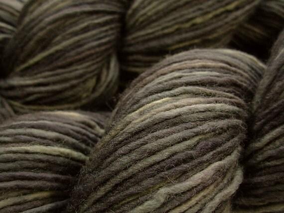 DK Weight Superwash Merino Wool Singles Yarn - Slate Grey Tonal - Hand Dyed Yarn, Knitting Craft Supplies