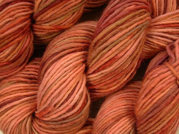 Chunky Weight Wool/Alpaca Yarn - Bricks - Hand Dyed Yarn, Knitting Supplies