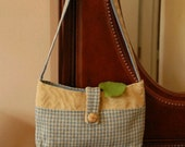 Blue Houndstooth Tote