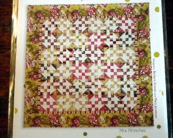Quilt Me and My Sister Designs PATTERN  BELLA  79 X 79  -new