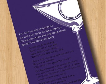 Mix and Mingle for that Last f being single - Bachelorette Party Invitations