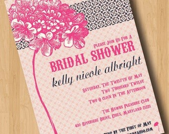 Vintage Country - Bridal Shower Invitations - Design Only