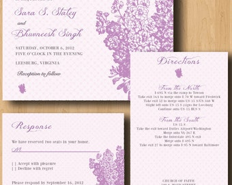 Floral Design Wedding Invitation Suite - Design Only