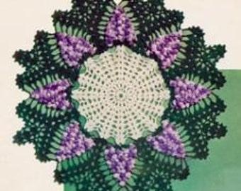 Grape Doilie Crochet Pattern PDF Instant Download