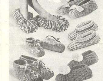 Speedy Slippers Knitting Pattern Men Women Kids