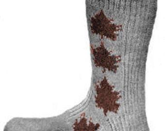 Maple Leaf Socks Knitting Pattern PDF Instant Download