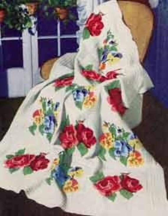 Crochet Victorian Afghan Pattern PDF Instant Download