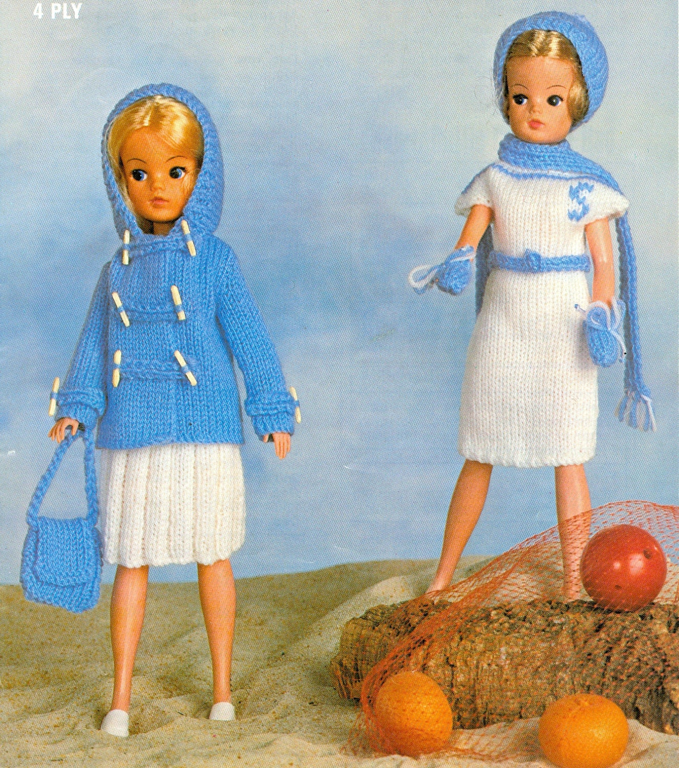 Vintage Knitting Pattern 7 Piece Doll Clothes 11 by dianeh5091