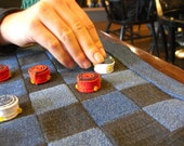 Checkers board handmade cloth