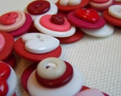 Pink Love Button Necklace
