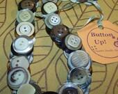 Vintage Brown Button Necklace