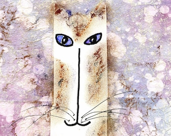 Original Cat Art - Lavendar Cat