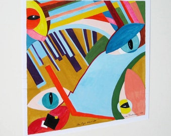 Original Abstract Painting The Eyes Have It