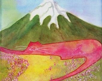 Mt. Fuji Cat - Spring