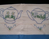 Tea Towel Blue Tea Pot