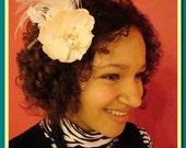 Romantic wedding hair fascinator