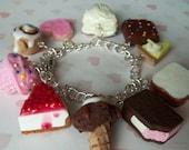 sweet treats polymer clay charm bracelet