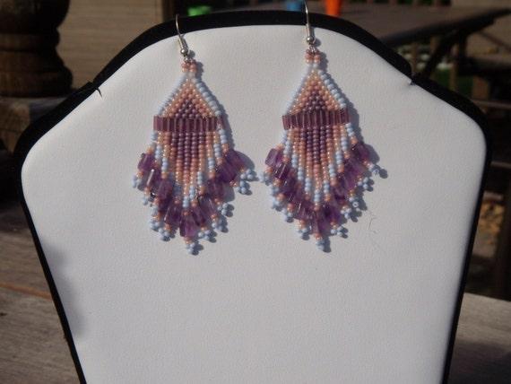 Pastel Beaded Earrings
