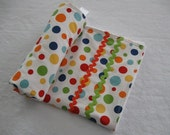 Trendy fun colorful Lolli Dot blankie